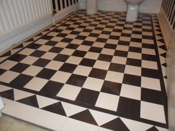 victorian tile bathroom floor
